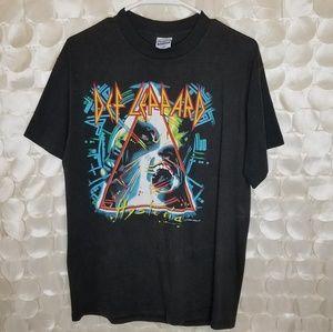 Def Leppard Hysteria Tour Tee 1987 80s band tshirt